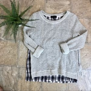 Sanctuary Anthropologie Sweater with Plaid. Size S